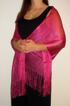 Evening scarves / wraps in metallic shiny net elegance are beautiful for all seasons.