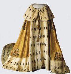 Ermine trimmed mantle Alexandria wore at Coronation 1896