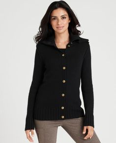 I love this heavy, chunky sweater.  Winter basic.