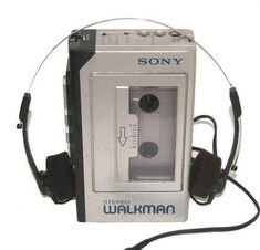 "The Walkman. I remember when this was cool. Also when the ""discman"" became popular and the walkman was out-dated. Today's kids and their ipods/iphones will have no clue. I totally remember delivering newspapers listening to tapes on my walkman!"