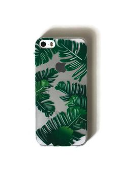Palm Leaf Soft iPhone 5s Case by trompo on Etsy