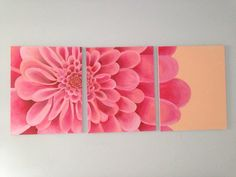 Daisy Tryptich Painting on Etsy, $55.00