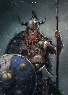 Yghnar (Viking / Nord Warrior), Remko Troost on ArtStation at https://www.artstation.com/artwork/8OenR