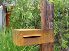 Your Geelong home or business will stand out with a custom-made Corten steel letterbox from Urban Metalwork.