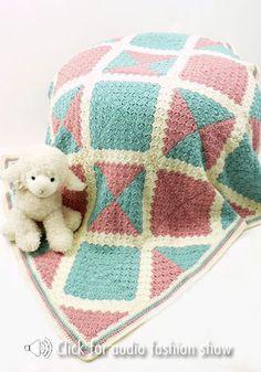 "perdido baby blanket from ""caron""  http://www.naturallycaron.com/projects/perdido/perdido_1.html"