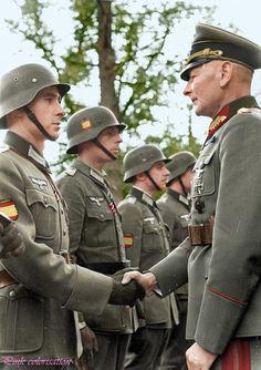 """General der Kavallerie"" Philipp Kleffel, review Wehrmacht Spanish soldiers from…"