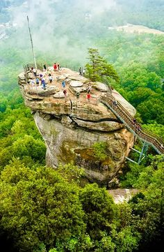 Chimney Rock, North Carolina- cool place to visit! Beautiful country