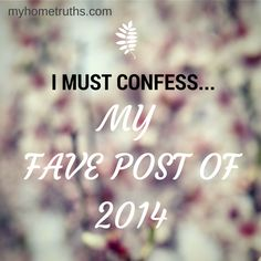 I Must Confess - A Monday link up for admitting and talking about the not so pretty parts