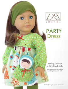 Doll clothes sewing pattern PDF for 18 inch door DBDollPatterns