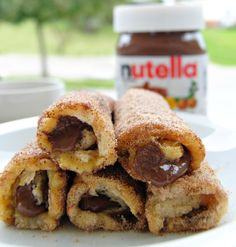 Nutella French Toast Roll-Ups - making for the kiddos! yum!