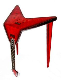 Very Cool! Bent Guitar Tables! #music #guitar #home