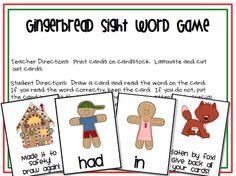 Gingerbread Word game freebie