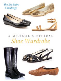 Minimal Ethical Shoe Wardrobe