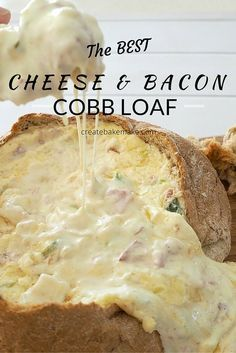 and Cheese Cobb Loaf Looking for a great dish to take to your next party? This Cheese and Bacon Cobb loaf is for you!Looking for a great dish to take to your next party? This Cheese and Bacon Cobb loaf is for you! Loaf Recipes, Cooking Recipes, Fast Recipes, Healthy Recipes, Lunch Recipes, Chicken Recipes, Cheap Recipes, Dishes Recipes, Dip Recipes