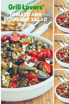 Grill Lovers' Amazing Tomato and Eggplant Salad Recipe #recipes #foodporn #foodie