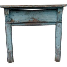 'Haint' Blue Mantel and Fireplace Surround Painting Antique Furniture, Antique Paint, Painted Furniture, Home Fireplace, Fireplace Surrounds, Fireplaces, Haint Blue, My Room, Entryway Tables