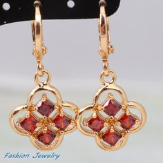 Find More Drop Earrings Information about Retro vintage fine jewelry ! 18K Yellow gold plated red CZ garnet stones Earrings Fashion Jewelry (DANA E179),High Quality jewelry charm,China jewelry with magnetic clasps Suppliers, Cheap jewelry ladies from Dana Jewelry Co., Ltd. on Aliexpress.com