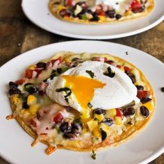 Tostada with Poached Egg