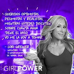 Es tu oportunidad ¡Tómate el agua! Piensa positivo y logra todo lo que te propongas. Siempre con la mejor actitud… ¡Actitud #GirlPower!