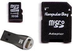 Introducing Komputerbay 32GB MicroSDHC Card High Speed Class 6 with Micro SD Adapter and SanDisk Mobilemate USB Reader. Great product and follow us for more updates!