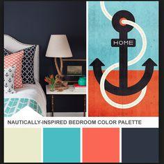 Turquoise, Navy, and Orange
