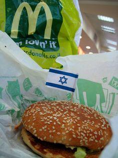 "עין בוקק [ein bokek] - Laura Padgett writes, ""yes, sadly there is a mcdonald's in ein bokek at the dead sea, and yes, sadly we did eat a late lunch there after going swimming. Kosher Food, Kosher Recipes, Israeli Food, Dead Sea, Delish, Swimming, Lunch, Eat, Ethnic Recipes"