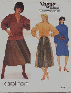 80s Carol Horn Vogue American Designer Pattern 1035 by CloesCloset, $18.00