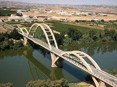 Sástago. Puente sobre el río Ebro