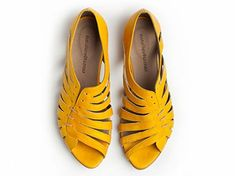 Gilly yellow flat sandals from natalievetamar on Etsy. Saved to OMG Shoes! Shop more products from natalievetamar on Etsy on Wanelo. Flat Sandals, Leather Sandals, Shoes Sandals, Flat Shoes, Crazy Shoes, Me Too Shoes, Sock Shoes, Shoe Boots, Women's Boots