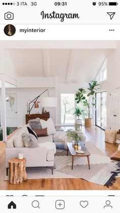 Find out why modern living room design is the way to go! A living room design to make any living room decor ideas be the brightest of them all. Cozy Living Rooms, My Living Room, Home And Living, Living Spaces, Modern Living, Minimalist Living, Natural Living, Modern Minimalist, Minimalist Decor