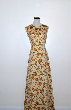 70s Floral Dress by CheekyVintageCloset on Etsy, $34.00