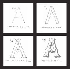 On the Creative Market Blog - How to Draw Fantastic Letters by Hand in 4 Simple Steps
