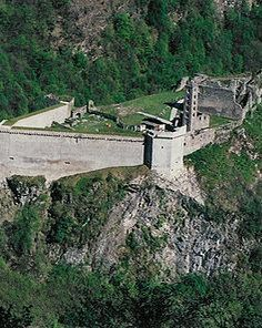 Mesocco Castle is a castle in the municipality of Mesocco of the Canton of Graubünden in Switzerland. It is a Swiss heritage site of national significance. Heritage Site, Alps, Austria, Switzerland, Castle, Germany, Europe, Italy, France