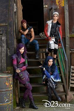Disney's Descendants is a contemporary live-action adventure comedy that introduces the teenage progeny of Disney's iconic characters—most notably its evil villains. The Disney Channel Original Movie will premiere on the Disney Channel in 2015.