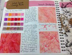 Bethany Parkinson Cardinal Newman College Dysperse dye print unit 4 textiles.