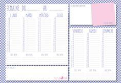 Gratuit : agenda à imprimer, Imprimez votre agenda hebdomadaire personnalisé et organiser facilement votre semaine !