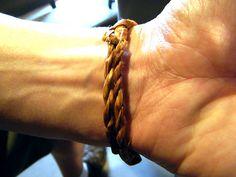 Cedar bark bracelet by miss604, via Flickr