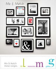 Wall Gallery Black