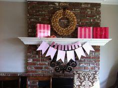 Bachelorette party decor  diy pink paper garland