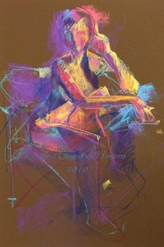 figure drawing in pastel