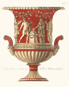 Arte Latina, Art Nouveau, Black Vase, White Vases, Vase Design, Paper Vase, Urn Vase, Vase Shapes, Greek Art