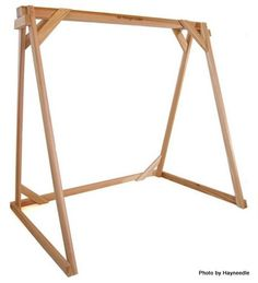 A-frame cedar stand for hanging porch swing
