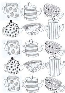 Image result for Tea Cup Patterns to Print
