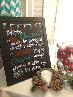 Handmade Chalkboard The Grinch Christmas Sign by ChalkAndKey on Etsy https://www.etsy.com/transaction/1082578441