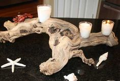 driftwood white - Google Search Crab Feast, Driftwood Candle Holders, Driftwood Wreath, Living Room Colors, Party Themes, Birthdays, Candles, Creative, Seafood