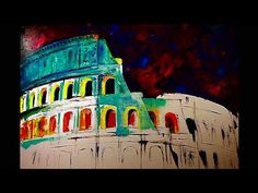 Colosseum by Natasha Mylius oil painting demo. Impressionism, Fine Art, Time Lapse Video, Canvas, Painting, Art, Oil Painting Demos