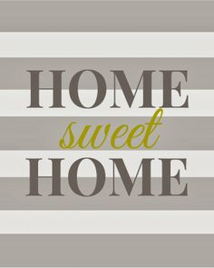 Home Sweet Home - Free Printable