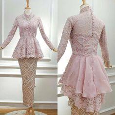super Ideas for dress batik resmi Kebaya Modern Hijab, Model Kebaya Modern, Kebaya Hijab, Kebaya Muslim, Muslim Dress, Kebaya Peplum, Kebaya Lace, Kebaya Pink, Batik Fashion
