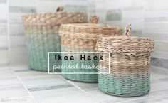 Ikea Hack: Ombre Painted Baskets