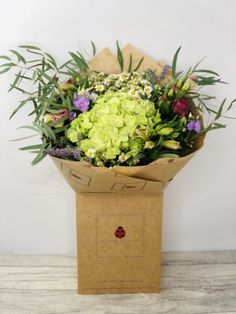Fresh Wildflower Hydrangea Bouquet: Booker Flowers and Gifts Fall Flowers, Orange Flowers, Summer Flowers, Hydrangea Bouquet, Same Day Flower Delivery, Flowers Delivered, Liverpool, Planter Pots, Fresh
